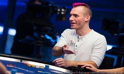 Justin Bonomo at Poker Table